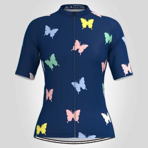 Multicolor Butterfly Women's Cycling Jersey