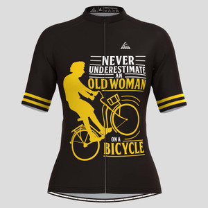 Old Woman On A Bicycle Cycling Jersey