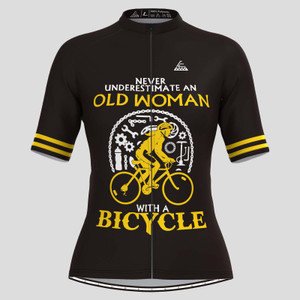 Old Woman With A Bicycle V2 Cycling Jersey