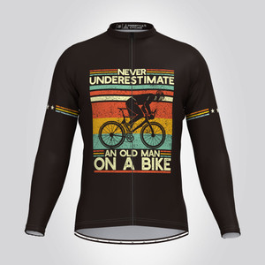 Old Man On A Bike V3 LS Cycling Jersey