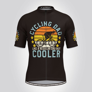 Cycling Dad Cooler Vintage Men's Cycling Jersey -Black