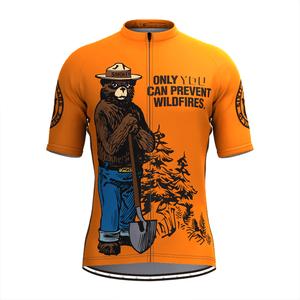 Retro Smokey Bear Prevent Wildfires Cycling Jerseys