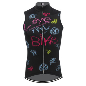 Love My Bike Women's sleeveless Cycling Jersey