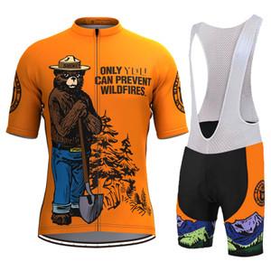 Retro Smokey Bear Prevent Wildfires Men's Cycling Kit