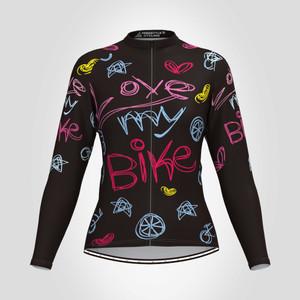 Love My Bike Women's Long Sleeve Cycling Jersey
