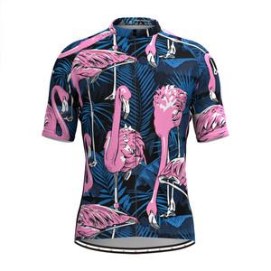 Men's Aloha Flamingo Print Hawaiian Cycling Jersey