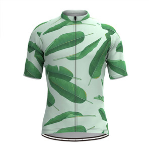 Men's Banana leaf Print Hawaiian Cycling Jersey