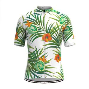 Men's Fruit Print Aloha Hawaiian Jersey Lemon