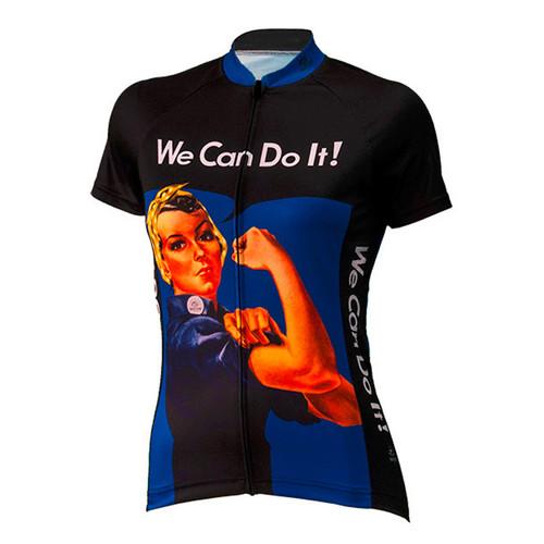 Rosie the Riveter Women's Cycling Jerseys Blue