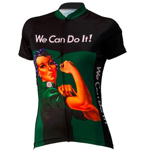 Rosie the Riveter Women's Cycling Jerseys Green