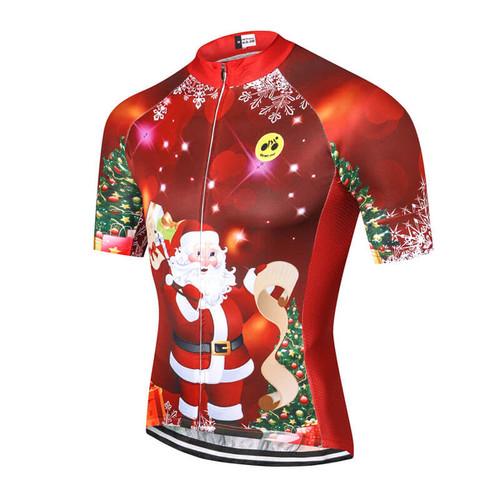 Santa Christmas Tree Red Cycling Jersey  a1789bc06
