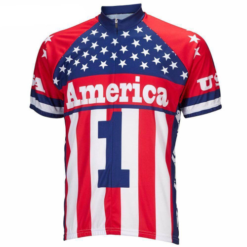 American Flag No 1 Cycling Jersey