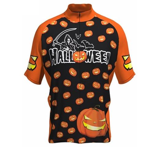 Happy Halloween Cycling Jersey Black Orange  21768053f