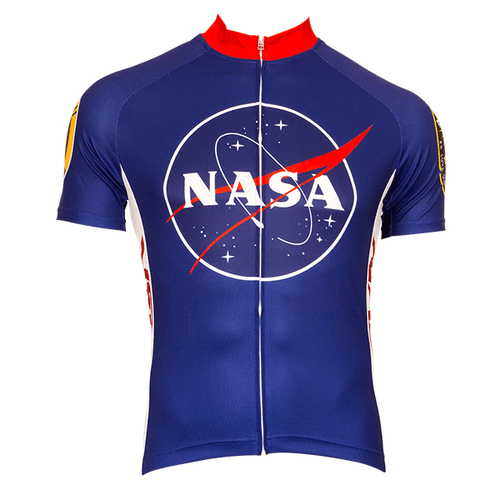 cd4cf3073 Retro Men s NASA Cycling Jersey Blue
