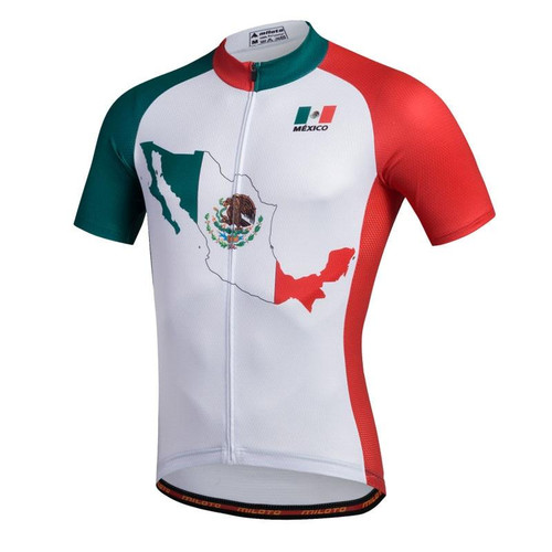 Mexico Map Short Sleeve Men's Cycling Jersey