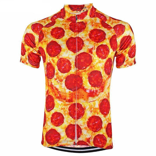 Pepperoni Short Sleeve Men's Cycling Jersey