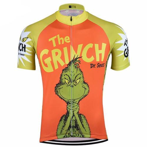 The Grinch Dr Seuss Orange Cycling Jersey  794ba1f02