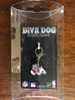 Fresno State Bulldogs dog collar charm in packaging by diva-dog.com