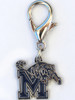 Memphis State Tigers dog collar charm by diva-dog.com