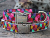 "Block Party dog Collar in ""Bright"" and ""Dark"" - by Diva-Dog.com"