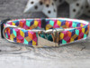 "Block Party dog collar in ""Bright"" - by Diva-Dog.com"