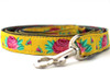 Spanish Rose dog leash - by Diva-Dog.com