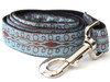 Calligraphy Blue Dog Leash - by Diva-Dog.com