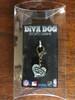 San Antonio Spurs Swirl Heart dog collar Charm - by Diva-Dog.com