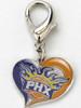 Phoenix Suns Swirl Heart dog collar Charm - by Diva-Dog.com