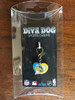 Denver Nuggets Swirl Heart dog collar Charm - by Diva-Dog.com