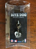 Brooklyn Nets Swirl Heart dog collar charm - by Diva-Dog.com