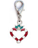 Candy Cane Heart dog collar charm by www.diva-dog.comAvailable in silver