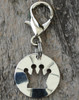 Cutout Crown dog collar charm - by Diva-Dog.com