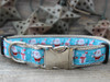 Snowflake Surprise dog collar in silver by www.diva-dog.com