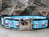 Snowflake Surprise dog collar in black by www.diva-dog.com