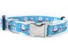 Snowflake Surprise dog collar by www.diva-dog.com