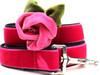 Rosie pink velvet dog leash by diva-dog.com