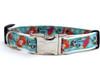 California Poppy Dog Collar - by Diva-Dog.com