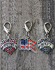 Marines, Navy and US Flag collar charms by www.diva-dog.com