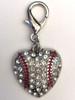 Crystal and enamel baseball dog collar charm by www.diva-dog.com