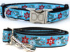 Winterberry dog collar and leash by www.diva-dog.com