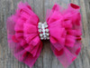 Party Dress Pink Bow for dog collars by www.diva-dog.com