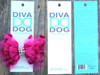 Party Dress Pink Bow for dog collars shown in packaging by www.diva-dog.com
