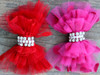 Party Dress Pink or Red Bow for dog collars by www.diva-dog.com