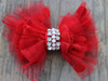 Party Dress Red Bow for dog collars by www.diva-dog.com