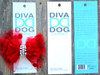 Party Dress Red Bow for dog collars shown in packaging by www.diva-dog.com