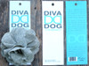 Derby Cherry Blossom Pink Linen flower for dog collars in packaging by www.diva-dog.com