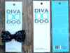 Gatsby jet beaded bow in packaging for dog collars in packaging by www.diva-dog.com