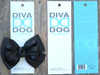 Tuxedo black bow for dog collars in packaging by www.diva-dog.com