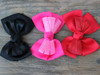 Tuxedo bow for dog collars shown in black, pink and red by www.diva-dog.com